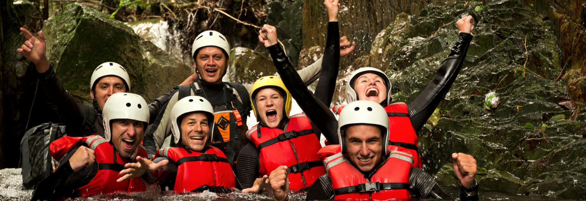 body rafting adventure and fun