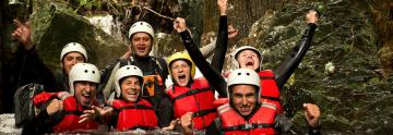 body rafting adventure and fun