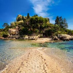 Taormina Isola bella, blue grotto.